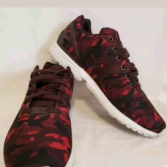finest selection f7422 59f89 Adidas Torsion Men's Zx Flux Red Camouflage Size 1